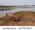 The Old Wooden Cart Was Parked...