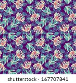 seamless floral pattern | Shutterstock .eps vector #167707841