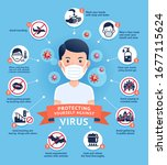diagram of how to protecting... | Shutterstock .eps vector #1677115624
