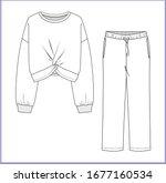 sweatshirt  sweatpants fashion... | Shutterstock .eps vector #1677160534