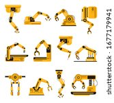 robotic arms. manufacturing... | Shutterstock .eps vector #1677179941