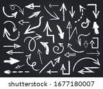 chalk sketch arrow. hand drawn... | Shutterstock .eps vector #1677180007