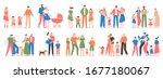 family groups. love family... | Shutterstock .eps vector #1677180067