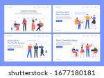 creative coworking office.... | Shutterstock .eps vector #1677180181