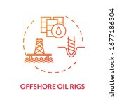 offshore oil rigs red concept... | Shutterstock .eps vector #1677186304
