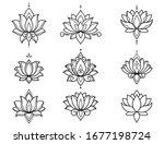 Set Of Lotus Mehndi Flower...