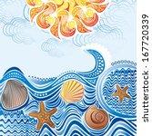 sea wave pattern nature... | Shutterstock .eps vector #167720339