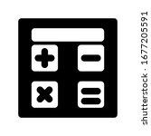 calculator icon set with glyph...