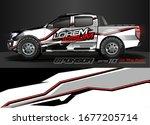 car wrap design vector....   Shutterstock .eps vector #1677205714