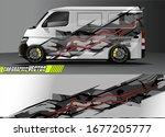 car wrap design vector....   Shutterstock .eps vector #1677205777
