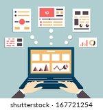 flat vector illustration of web ...