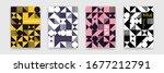 bauhaus geometric pattern...   Shutterstock .eps vector #1677212791