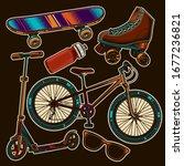 original vector set in vintage...   Shutterstock .eps vector #1677236821