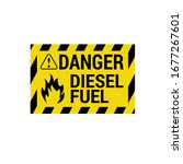 danger diesel fuel sign.vector... | Shutterstock .eps vector #1677267601