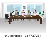 people in office   vector... | Shutterstock .eps vector #167727284