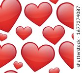 hearts love stamps pattern.... | Shutterstock .eps vector #1677274087