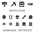 death icon set. 14 filled death ... | Shutterstock .eps vector #1677312127