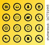 vector business icons set. | Shutterstock .eps vector #167731445