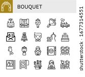 bouquet icon set. collection of ... | Shutterstock .eps vector #1677314551