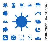 Sunny Icon Set. 17 Filled Sunn...