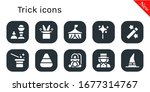 trick icon set. 10 filled trick ... | Shutterstock .eps vector #1677314767