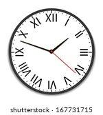 old vintage clock face. raster... | Shutterstock . vector #167731715