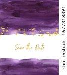 Watercolor Plum Purple Color...