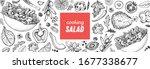 healthy food illustration. hand ... | Shutterstock .eps vector #1677338677
