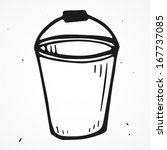 vector bucket hand drawn | Shutterstock .eps vector #167737085