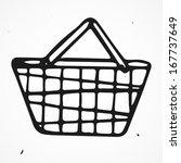 cartoon shopping basket  hand... | Shutterstock .eps vector #167737649