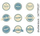 vintage retro label frames set | Shutterstock .eps vector #167739137
