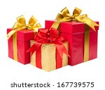gift concept. present boxes... | Shutterstock . vector #167739575