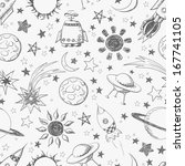 seamless space pattern. can be... | Shutterstock . vector #167741105