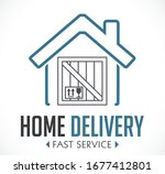 home delivery concept   fast...   Shutterstock .eps vector #1677412801