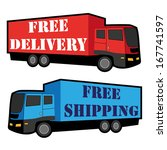free delivery  free shipping... | Shutterstock .eps vector #167741597