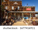 Small photo of Nelson Ghost Town, Nevada, USA - 4 October, 2019: Nelson Ghost Town near Eldorado Gold Mine, Nelson Cutoff Rd, Searchlight, Nevada, USA