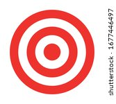 red and white target. hunting ... | Shutterstock .eps vector #1677446497