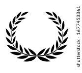 laurel wreath icon. round frame ...   Shutterstock .eps vector #1677453361