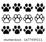dog or cat footprint vector...   Shutterstock .eps vector #1677459211