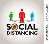 social distancing  people... | Shutterstock .eps vector #1677498304