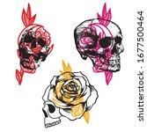 skulls color plants radical... | Shutterstock .eps vector #1677500464