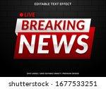 breaking news banner text... | Shutterstock .eps vector #1677533251