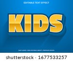 kids text effect template with... | Shutterstock .eps vector #1677533257