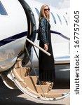 full length of wealthy woman in ... | Shutterstock . vector #167757605