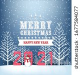 happy new year 2021 background... | Shutterstock .eps vector #1677584077
