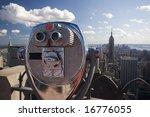 Binoculars Overlooking Nyc