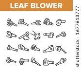 leaf blower equipment...   Shutterstock .eps vector #1677613777
