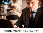 successful elegant fashionable... | Shutterstock . vector #167762744