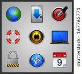 web icon set vector  computing... | Shutterstock .eps vector #167762771