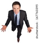 Businessman Posing With Arms...